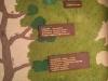 Übersichtstafel über die Stockwerke in der Klinik nett dargestellt auf einem Baum